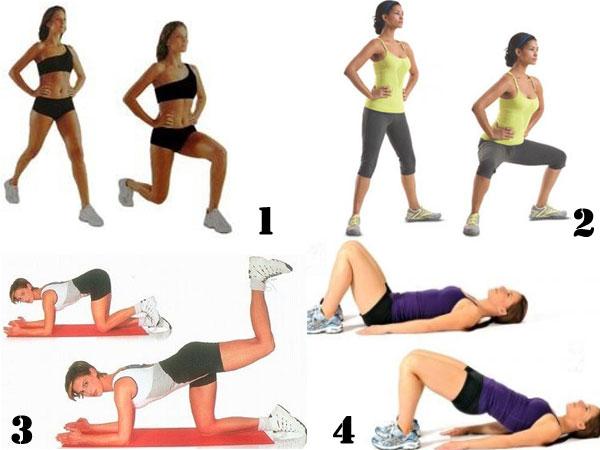 упражнения для красивой попы