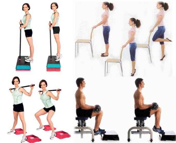упражнения для худых икр