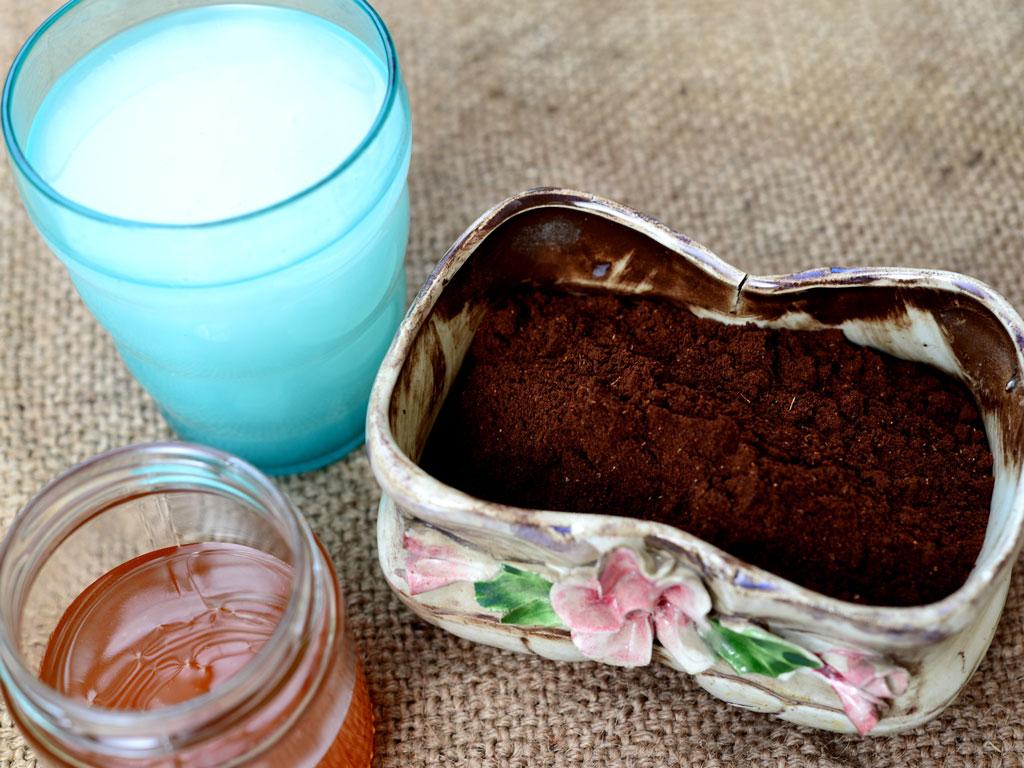 Скраб из кофе и меда для каждой 1-4