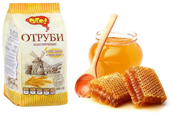 лепешки из меда и отрубей