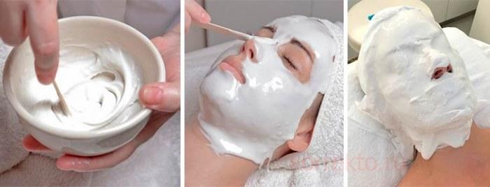 результат после применения альгинатной маски