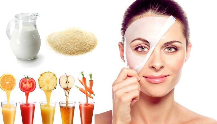 Коллагеновая маска для сухой и жирной кожи