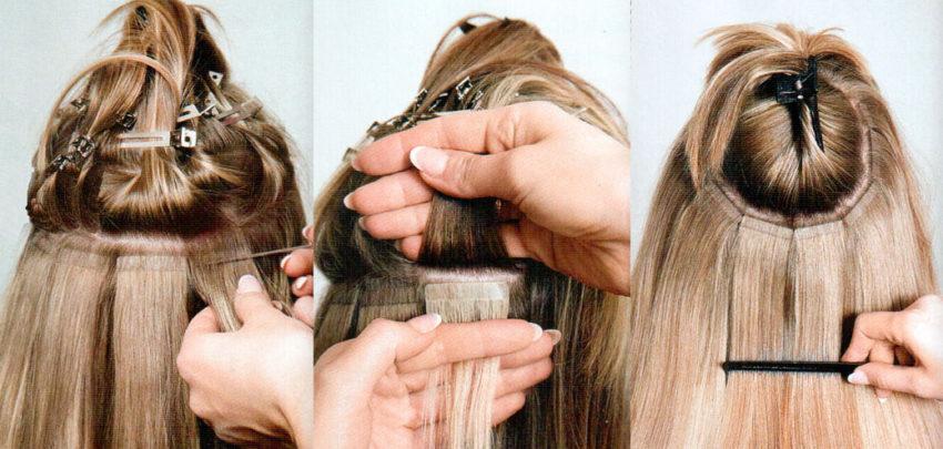 варианты наращивания волос