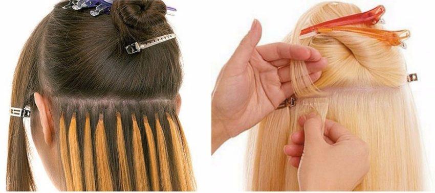 техника наращивания волос