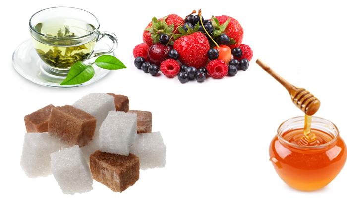 Скраб с сахаром, медом и чаем