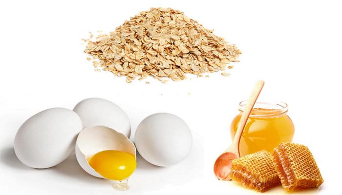 овсянка, яйцо, мед