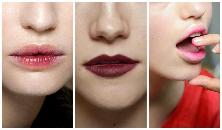 коррекция формы губ макияжем