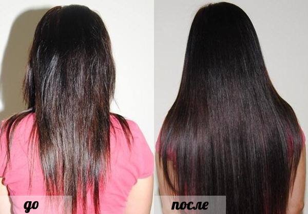 результат после наращивания волос