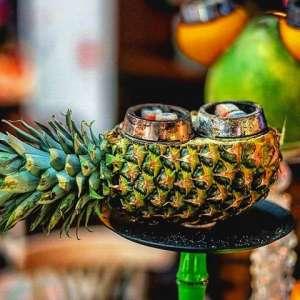 Приготовление кальяна на ананасе