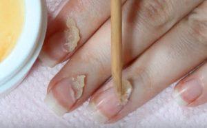 масло и ногти