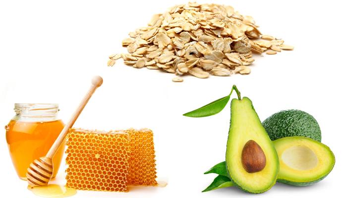 скраб для жирной кожи: мед, авокадо, овсянка
