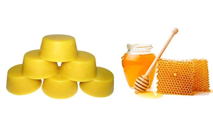 Маска: парафин и мед