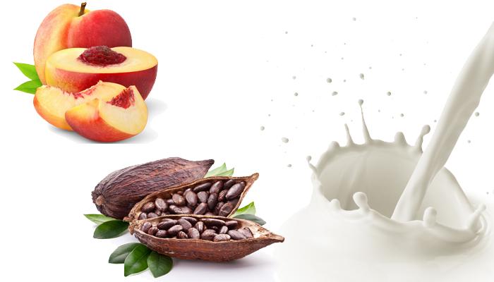 Маска: какао, молоко, персик