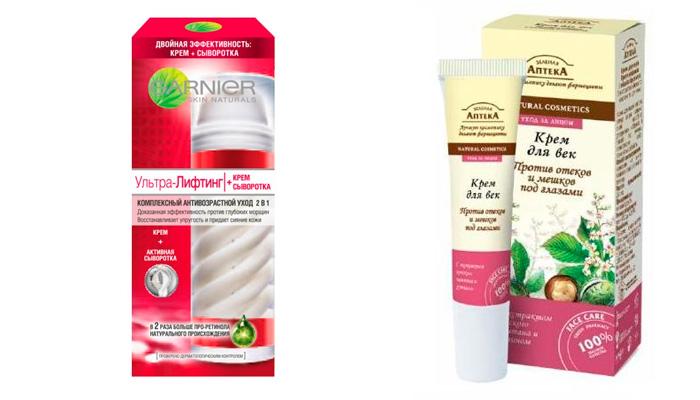 Кремы, мази и гели от мешков под глазами: ищем самый эффективный препарат