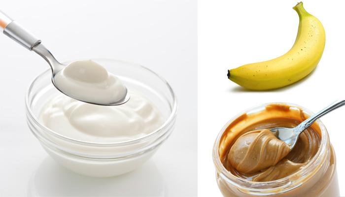 Маска: йогурт, банан, ореховое масло