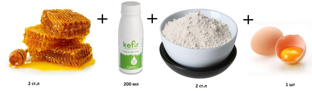 медовые соты, глина и кефир