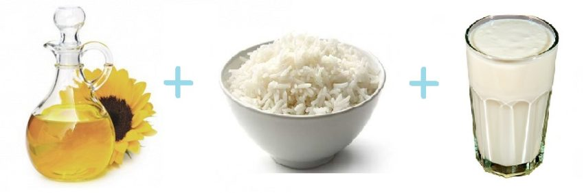 рис масло кефир