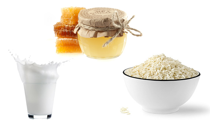 рис, мед, молоко