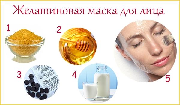 компоненты маски с желатином