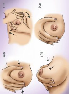 массаж перец сцеживанием