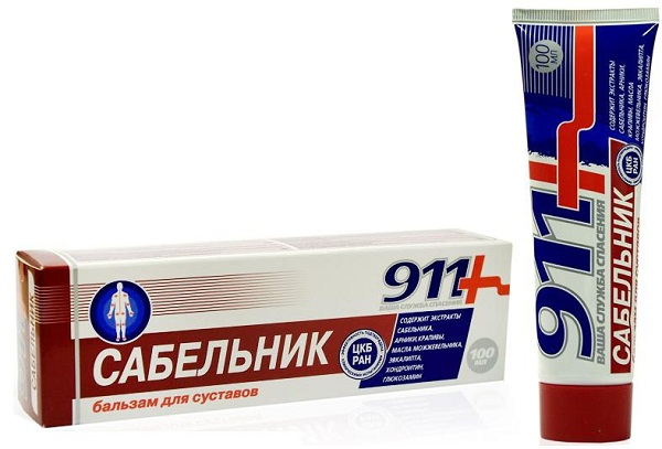 Мазь Сабельник 911