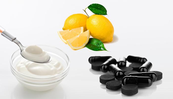 Активированный уголь и лимон